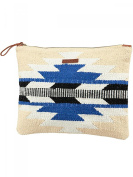 Barts Canvas Pouch Bag 22x30 cm Blue Printed Cotton Teens and Women Barts