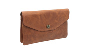 Mala Leather TUDOR Collection Shoulder/ Clutch Bag With Detachable Straps 791_88 Tan