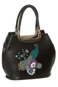 Dancing Days by Banned Peacock Floral Vintage 50s Handbag