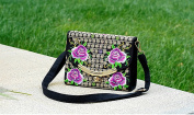 Sun lamps- National Wind Embroidery Bags Embroidery Retro Leisure Simple Covered With Wild Package Women's Messenger Bag