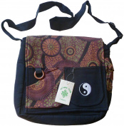 FAIR TRADE COTTON YIN YANG TRAVEL BOHO FESTIVAL SHOULDER BAG SATCHEL 2 SIZES