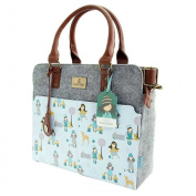 Santoro Gorjuss Felt and PU Traveller Handbag - Woodland