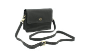 Mala Leather TUDOR Collection Shoulder Bag With Detachable Shoulder Strap 793_88 Black