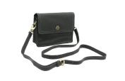Mala Leather TUDOR Collection Shoulder Bag With Detachable Shoulder Strap 793_88 Black