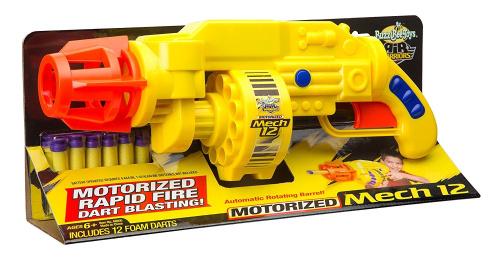 Buzz bee toys air warriors motorised mech 12 blaster for Nerf motorized rapid fire blasting