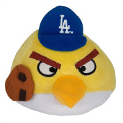 MLB Los Angeles Dodgers Angry Bird Plush Toy, Small, Yellow
