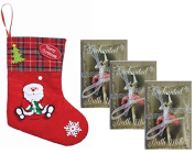 Father Christmas Stocking Containing 3 Enchanted Soothing Luxury Bath Milks