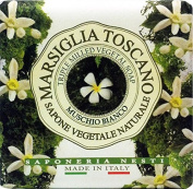 6 x White Musk Vegetable Soap Marseille Toscano 200 Grammes