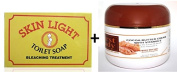 Mama Africa Skin Light Bleaching Treatment Soap 200g & FREE First Lady Cocoabutter Cream 500ml