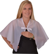 Solida Dressing Cape Taffeta with Binding Tape, Pack of 1, White