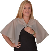 Solida Dressing Cape Taffeta with neck ties grey - Price For 1 Each