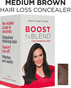 BOOSTnBLEND Medium Brown Hair Loss Scalp Concealer for Women with thinning hair. Cover up Visible Scalp with the BEST female hair loss and thinning treatment 22g