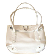 PEARL WHITE LEATHER HANDBAG