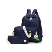 MIUCOO Casual Lightweight Canvas Laptop Shoulder School Backpack