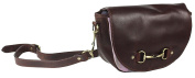 Greys Haston Leather and Lilac Cheque Snaffle Bit Design Shoulder Hand Bag