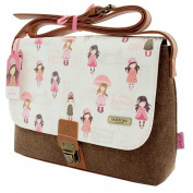 Santoro Gorjuss Felt and PU Traveller Satchel - London