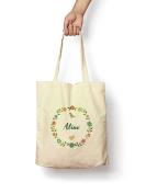 Floral Aline - Canvas Tote Bag