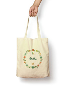 Floral Aletha - Canvas Tote Bag