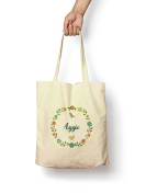 Floral Aggie - Canvas Tote Bag