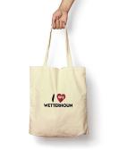 I Love My Wetterhoun - Canvas Tote Bag