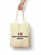 I Love My Wirehaired Pointing Griffon - Canvas Tote Bag