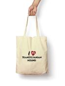I Love My Transylvanian Hound - Canvas Tote Bag