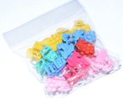 BULLDOG CHILDRENS HAIR CLIP CLAWS(PACK OF 23), cute, trendy and colourful,Ideal for holding hair up & styling