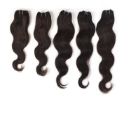 60g (14-22) Body Wave 41cm Mixed Length 100% Human Hair 36cm , 46cm Natural Black, 50cm , 60cm , 5PCS, 300 g.