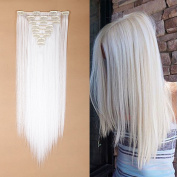 Premium-Long 2.3cm One Piece Ombre clip in Hair Extensions Dip Dye Half Full Head Hairpieces Fashion Women Choice