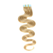 Just Beautiful Hair and Cosmetics 20 x 2.5 g Curly Remy Tape in/on Hair Extensions Curly Skin Weft 60 cm