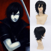 Togainu No Chi Shiki Anime Cosplay Anime Short Straight Black Cosplay Anime Costume Synthetic Fibre Hair Heat Resistant Full Wig For Women