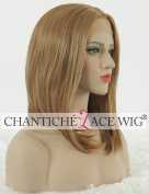 Chantiche Fashion Short Bob Wigs uk Straight Mixed Light Blonde Middle Part Synthetic Hair Realisrtic Looking Lace Front Wig Half Hand Tied Heat resistant Fibre