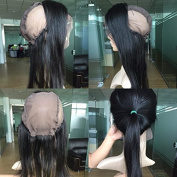 Pre Plucked 360 Lace Frontal 7A Brazilian Virgin Hair Silky Straight Natural Hairline 360 Lace Band Frontal Closure With Baby Hair (25cm )
