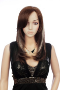 Prettyland C831 - Long Wig Lace Front Wig handwoven brown with platinum blond strands