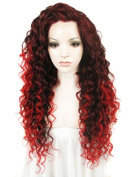Sotica Long Afro Kinky Curly Lace Front Wig Heavy Density Heat Resistant Synthetic Hair Wigs for Halloween Party