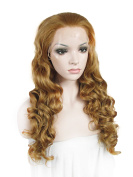 Sotica Long Curly Brown Fluffy Lace Front Wig