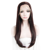 Sotica 60cm Long Straight Brown Lace Front Wig