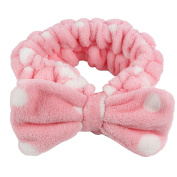 Women Lovely Soft Bowknot Bow Makeup Cosmetic Shower Elastic Headband