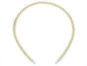 Cream Ivory Faux Pearl Alice Band Headband Wedding Ladies Girls Beads Plastic