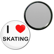 I Love Skating - 55mm Round Compact Mirror