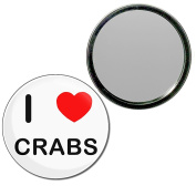 I Love Crabs - 55mm Round Compact Mirror