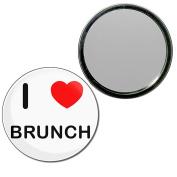 I Love Brunch - 55mm Round Compact Mirror