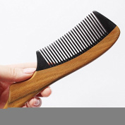 F & HY & L Green Tan wooden comb hair brush anti-static massage comb