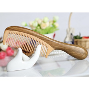 F & HY & L Green Tan boxwood Combs drums round handle of hair and promote growth gifts