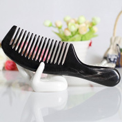 F & HY & L Natural black Horn combs in static