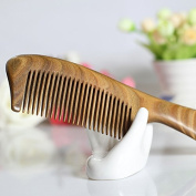 F & HY & L Green ebony hairbrush hair brush anti-static sandal wood with straight hair comb