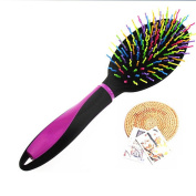 F & HY & L Rainbow comb plastic airbag massage comb-tooth styling hairdressing comb a wig comb