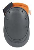 ALTA 50450.50 AltaFLEX Gel Knee Protector Pad, Grey/Orange Cordura Nylon Fabric, AltaGrip Fastening, Flexible Cap, Long, Grey