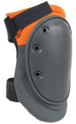 ALTA 50410.50 AltaFLEX Knee Protector Pad, Grey/Orange Cordura Nylon Fabric, AltaGrip Fastening, Flexible Cap, Long, Grey