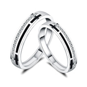 ZPL ZPLS925 sterling silver inlaid couple ring